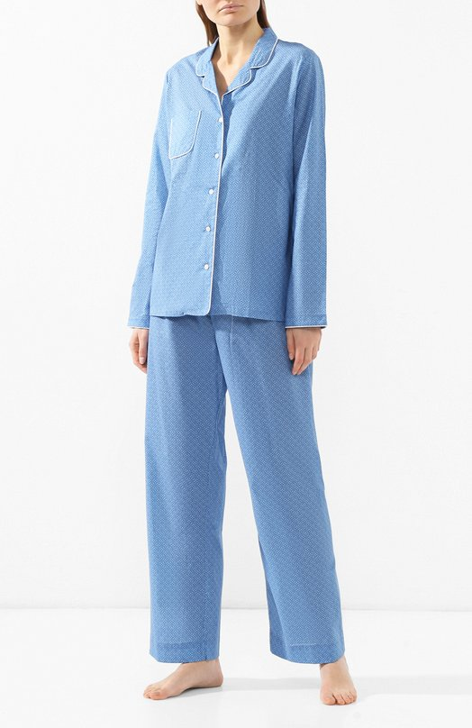 Купить Хлопковая пижама Derek Rose, 2010-LEDB021, Чехия, Голубой, Хлопок: 100%;