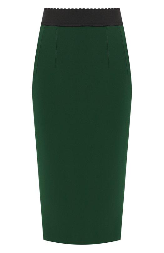 Купить Юбка-миди Dolce & Gabbana, F4A1FT/FURDV, Италия, Зеленый, Вискоза: 51%; Ацетат: 46%; Эластан (Полиуретан): 3%;