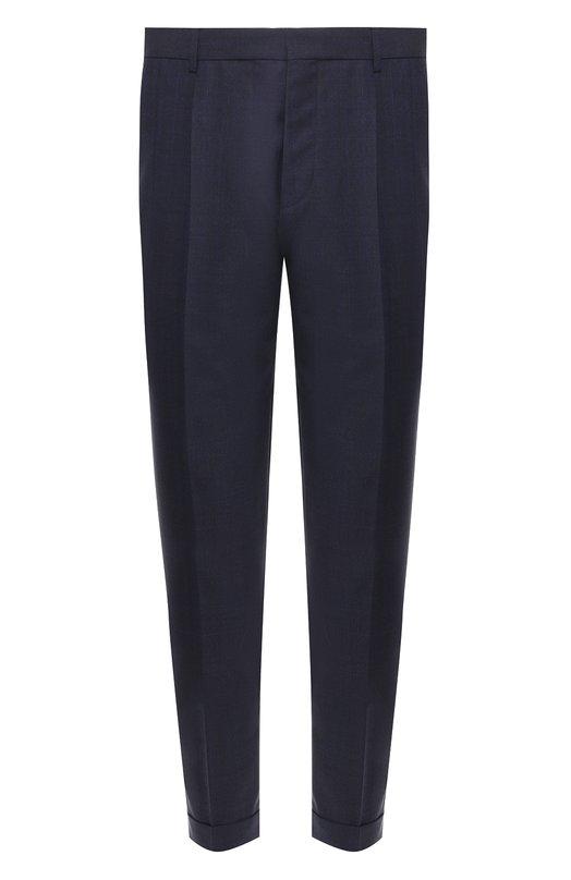 Купить Шерстяные брюки BOSS, 50404469, Румыния, Темно-синий, Шерсть: 100%;