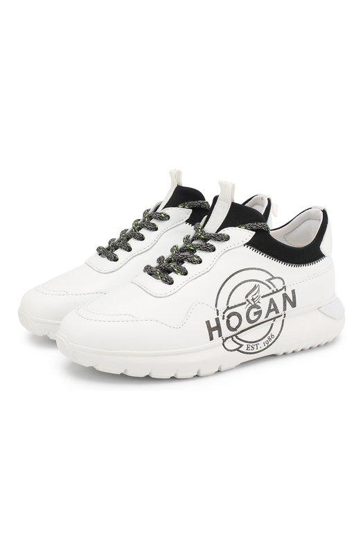 Кожаные кроссовки Hogan