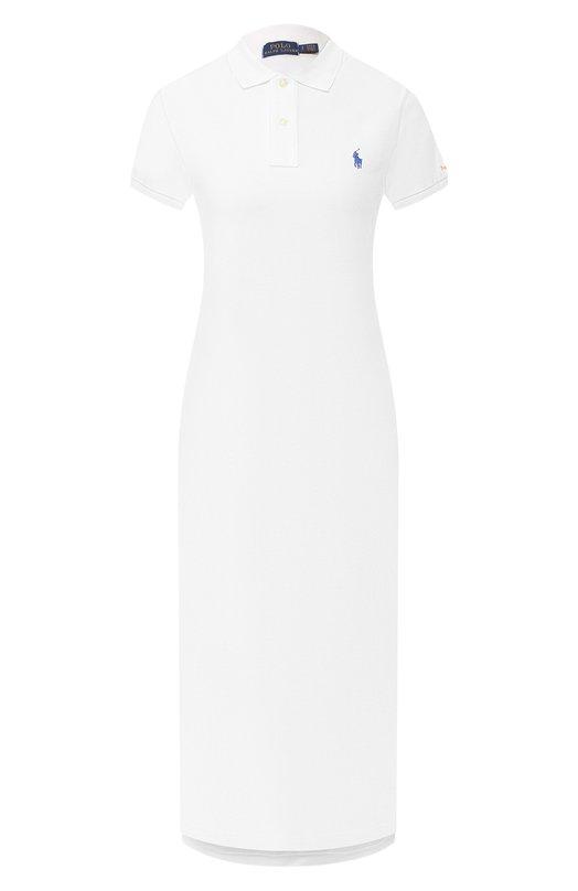 Купить Хлопковое платье Polo Ralph Lauren, 211744694, Вьетнам, Белый, Хлопок: 100%;
