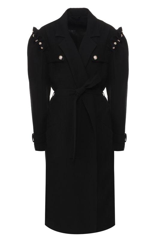 Купить Пальто с поясом Mother Of Pearl, 1113 C FELIX, Португалия, Черный, Вискоза: 82%; Шерсть: 18%; Подкладка-вискоза: 100%;