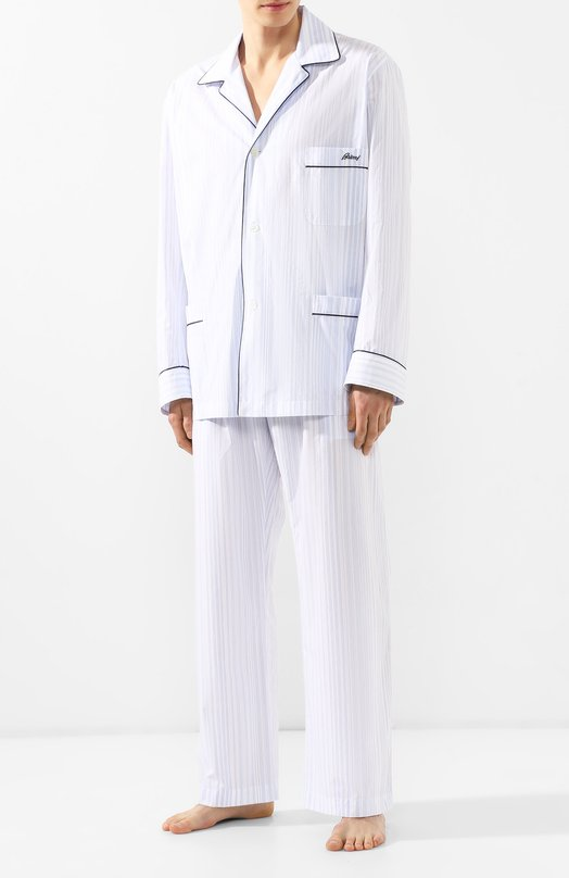 Купить Хлопковая пижама Brioni, NBP30L/P8030, Италия, Голубой, Хлопок: 100%;