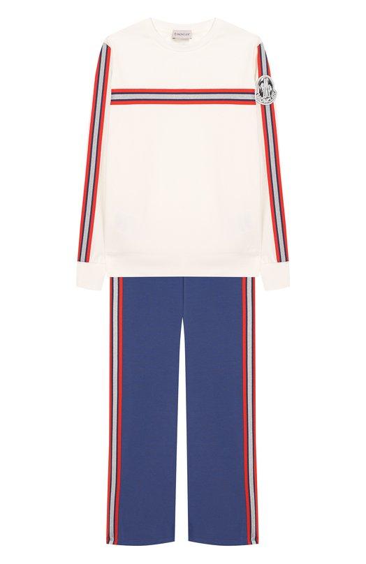 Комплект из хлопкового свитшота и брюк Moncler Enfant