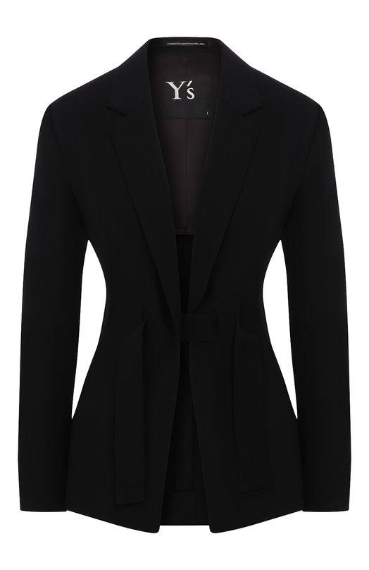 Купить Шерстяной жакет Yohji Yamamoto, YZ-J01-100, Япония, Черный, Шерсть: 100%;