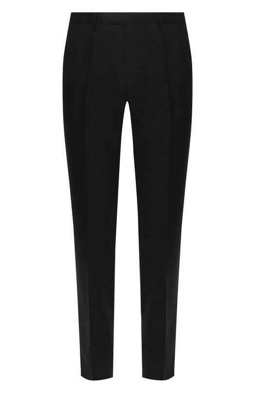 Купить Шерстяные брюки BOSS, 50385149, Румыния, Черный, Шерсть: 100%;