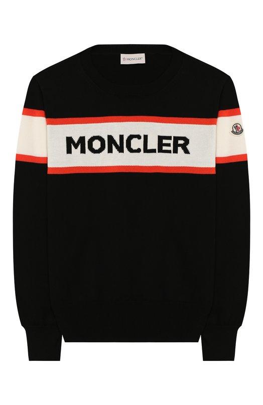 Хлопковый пуловер Moncler Enfant