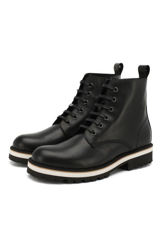 Купить Кожаные ботинки Dsquared2, 54261/36-41, Италия, Черный, Кожа: 100%; Подкладка-кожа: 100%; Подошва-резина: 100%; Стелька-кожа: 100%;