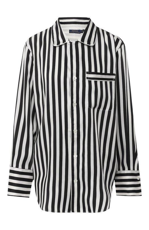 Купить Рубашка в полоску Polo Ralph Lauren, 211744753, Китай, Черно-белый, Полиэстер: 100%;