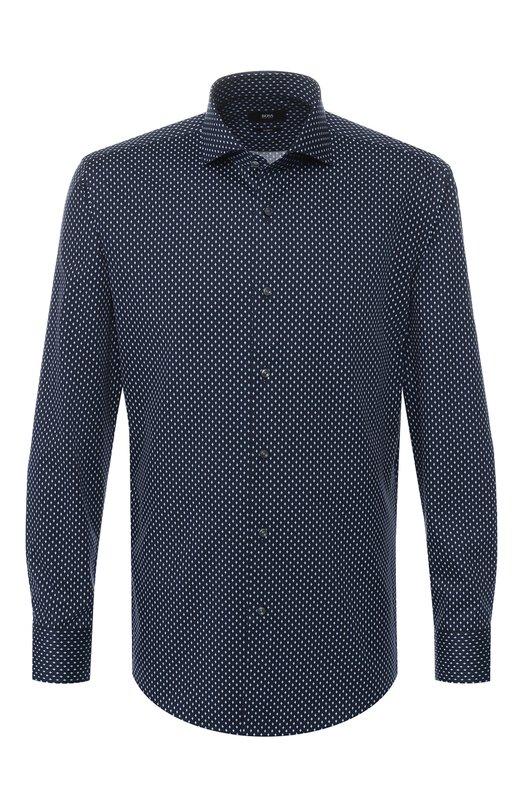 Купить Хлопковая рубашка BOSS, 50399920, Италия, Синий, Хлопок: 100%;