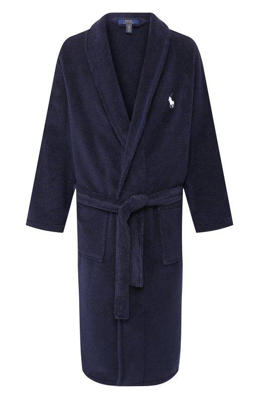 Купить Хлопковый халат Ralph Lauren, 714515731, Турция, Темно-синий, Хлопок: 100%;