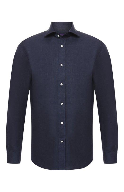 Купить Льняная рубашка Ralph Lauren, 791750046, Италия, Синий, Лен: 100%;