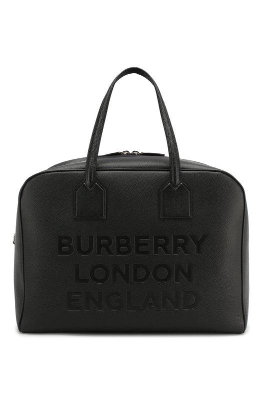 Купить Кожаная дорожная сумка Burberry, 8012524, Италия, Черный, Кожа: 100%;