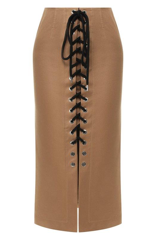 Купить Хлопковая юбка Markus Lupfer, SK431, Венгрия, Бежевый, Хлопок: 100%;