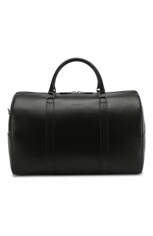 Купить Кожаная дорожная сумка Canali, P325158/NA00053, Италия, Черный, Кожа: 100%;