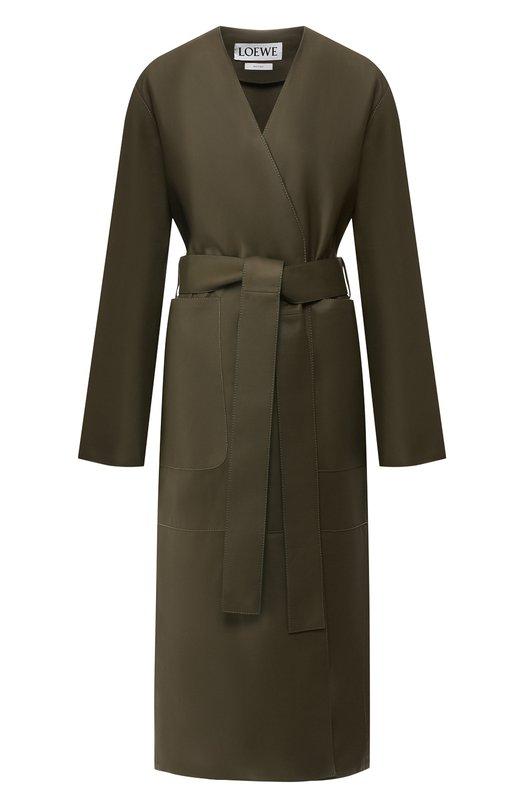 Кожаное пальто Loewe Loewe