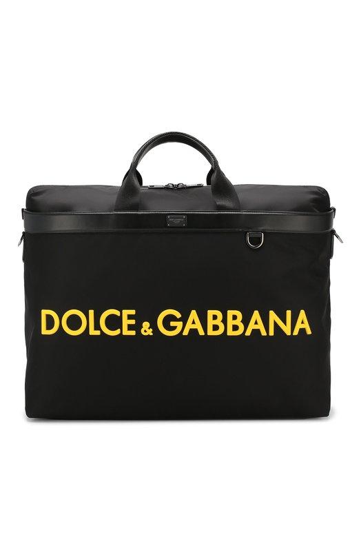 Купить Комбинированная дорожная сумка Street Dolce & Gabbana, BM1624/AZ675, Италия, Черный, Текстиль: 80%; Кожа: 20%;