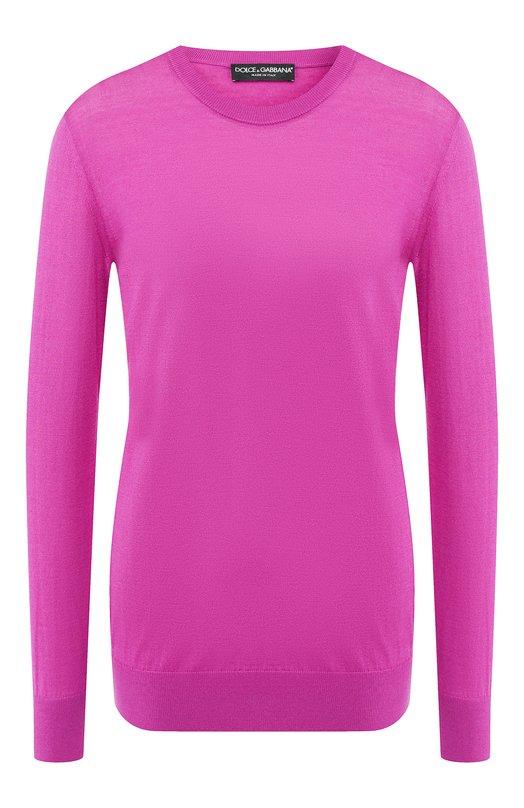 Купить Пуловер из смеси кашемира и шелка Dolce & Gabbana, FX363T/JAMSL, Италия, Фуксия, Кашемир: 70%; Шелк: 30%;