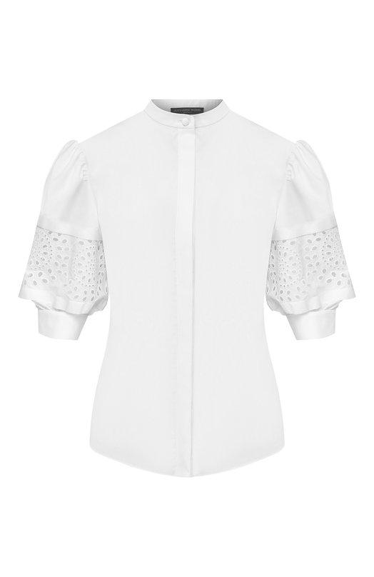 Хлопковая блузка Alexander McQueen, Alexander McQueen
