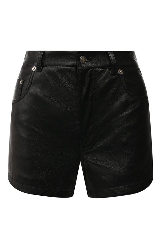 Кожаные шорты Saint Laurent Saint Laurent
