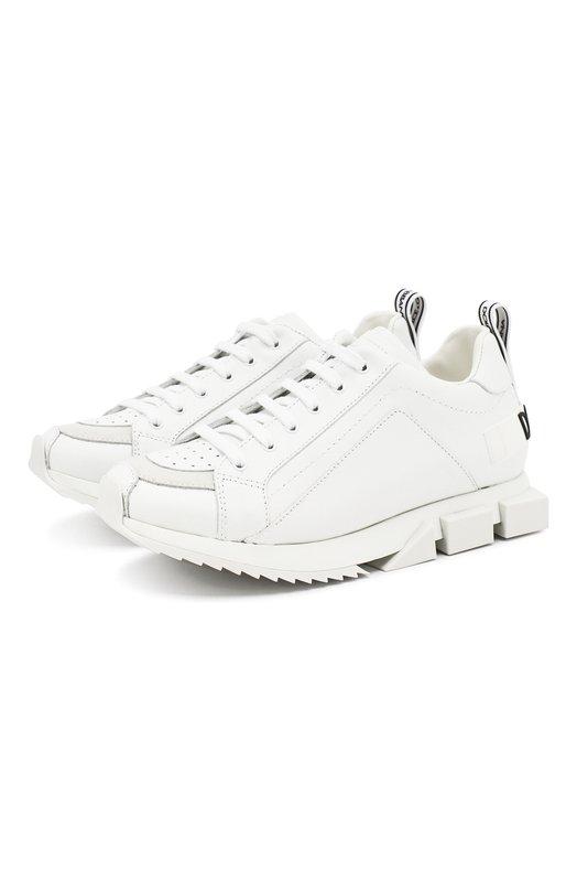 Кожаные кроссовки Dolce & Gabbana