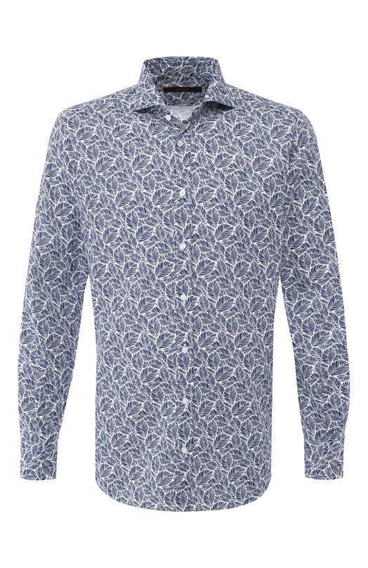 Рубашка из смеси льна и хлопка Windsor