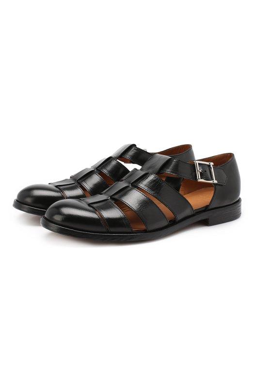 Купить Кожаные сандалии Doucal's, DU2036LE0NUF063NN00, Италия, Черный, Кожа: 100%; Подкладка-кожа: 100%; Подошва-кожа: 100%; Стелька-кожа: 100%;