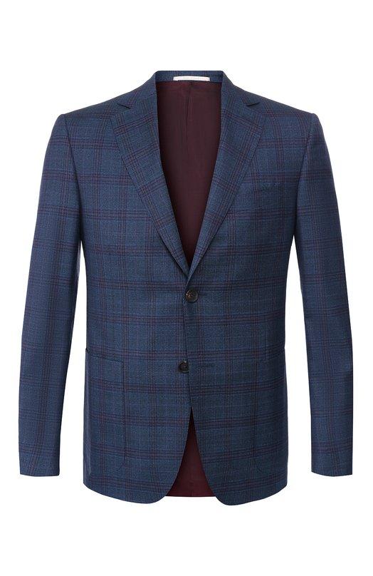 Купить Шерстяной пиджак Pal Zileri, 032X023-2--53931, Италия, Темно-синий, Шерсть: 100%;