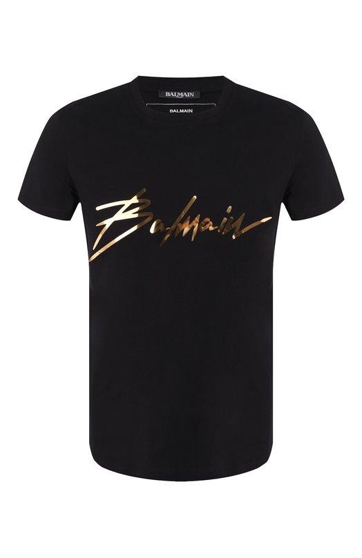 Купить Хлопковая футболка Balmain, RH01601/I131, Португалия, Черный, Хлопок: 100%;