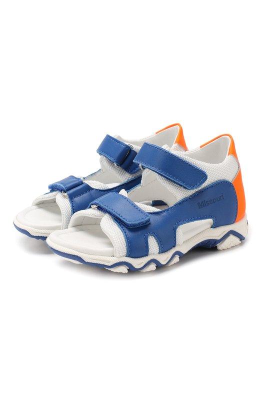 Кожаные сандалии с застежкой велькро Missouri