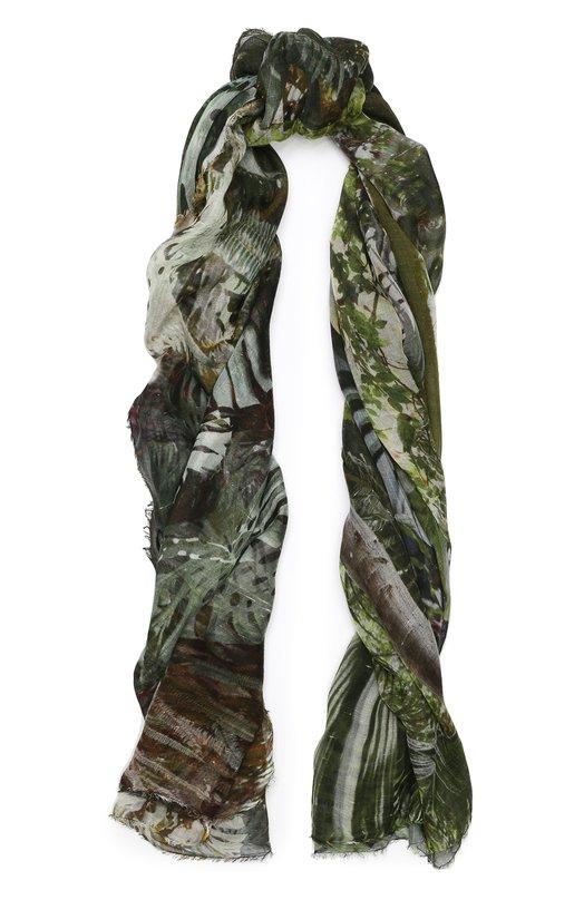 Купить Шарф из смеси вискозы и шелка Faliero Sarti, E19 2100, Италия, Зеленый, Кашемир: 8%; Вискоза: 71%; Шелк: 21%;