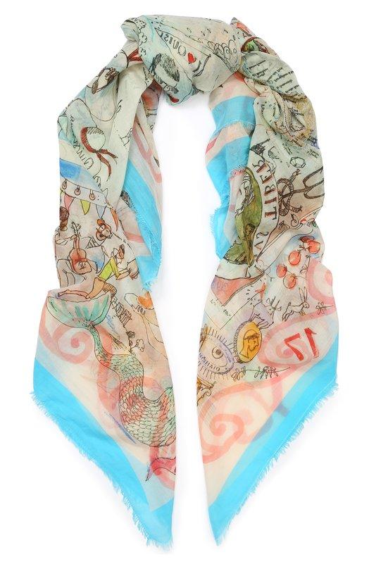 Купить Хлопковый шарф Faliero Sarti, E19 2156, Италия, Разноцветный, Хлопок: 100%;