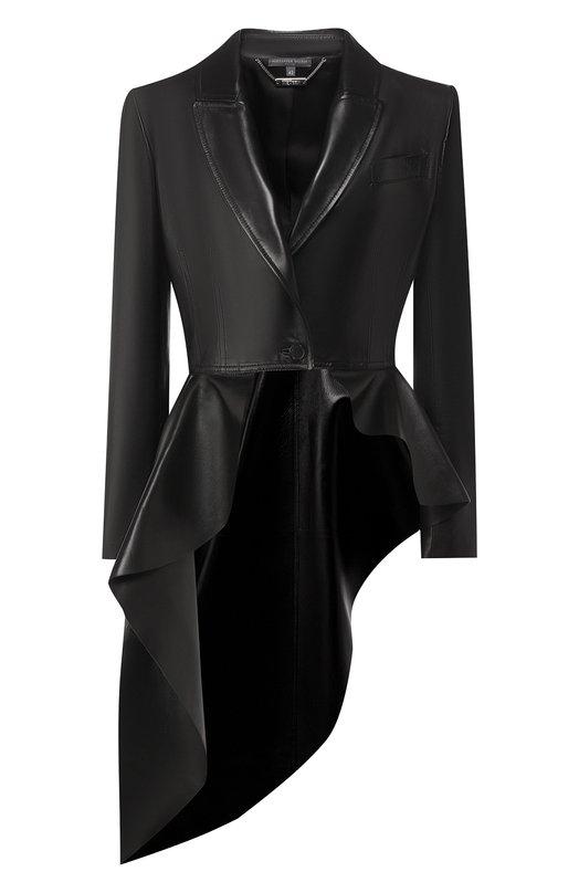 Купить Кожаный жакет Alexander McQueen, 569216/Q5LBQ, Италия, Черный, Кожа: 100%;