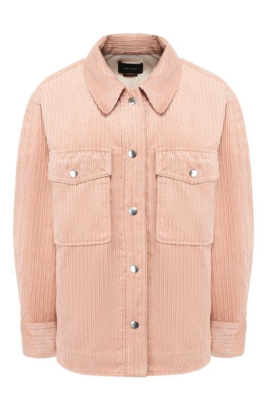 Купить Вельветовая куртка Isabel Marant, MA0517-19P016I/MARVEY, Болгария, Светло-розовый, Полиэстер: 84%; Полиамид: 16%; Подкладка-текстиль: 100%; Наполнитель-полиэстер: 100%;