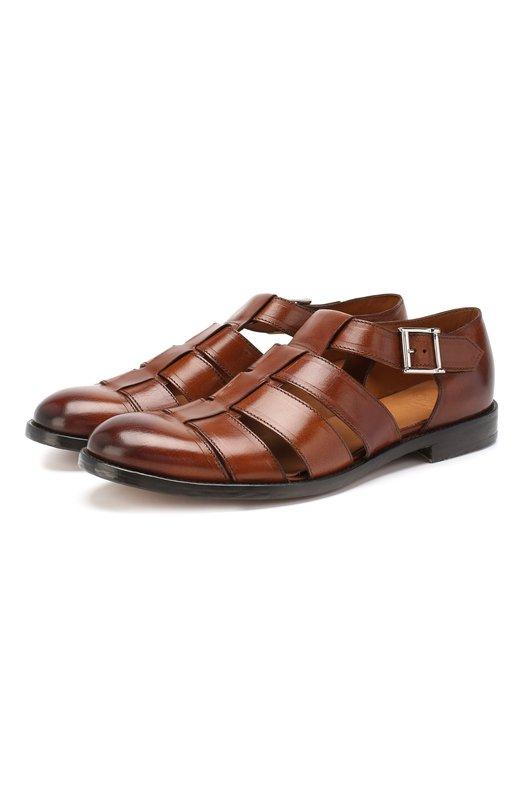 Купить Кожаные сандалии Doucal's, DU2036LE0NUF063TM24, Италия, Светло-коричневый, Подошва-кожа: 100%; Подкладка-кожа: 100%; Кожа: 100%; Стелька-кожа: 100%;