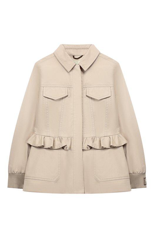 Хлопковая куртка с баской Fendi