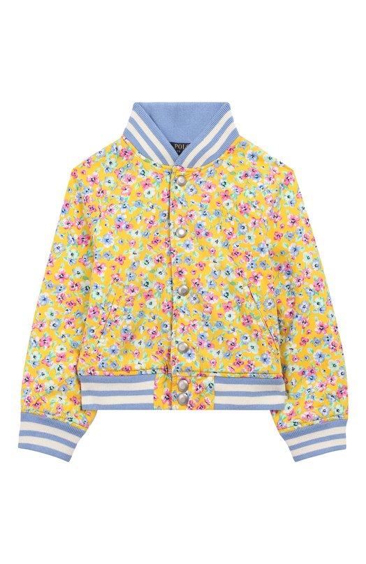 Купить Хлопковый бомбер Polo Ralph Lauren, 311736043, Китай, Желтый, Хлопок: 100%; Подкладка-текстиль: 100%;
