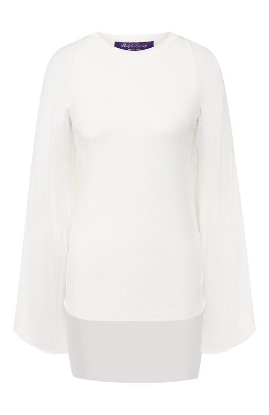 Купить Шелковый пуловер Ralph Lauren, 290749771, Италия, Белый, Шелк: 90%; Полиамид: 7%; Эластан (Полиуретан): 3%;