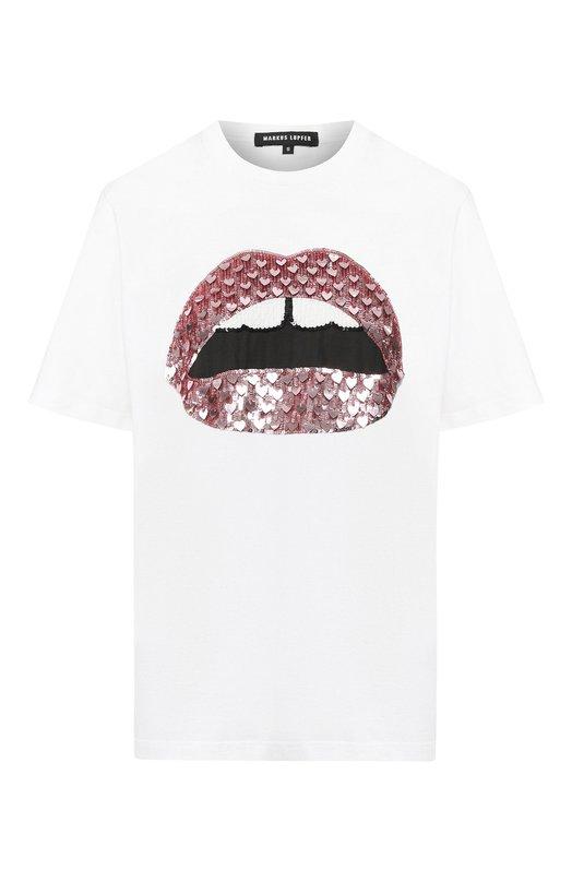 Купить Хлопковая футболка Markus Lupfer, TEE229, Индия, Белый, Хлопок: 100%;