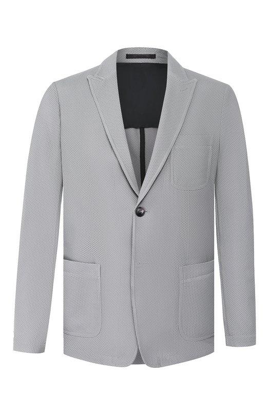 Купить Пиджак Giorgio Armani, 9SGGG076/J0008, Италия, Светло-серый, Полиамид: 80%; Эластан (Полиуретан): 20%;