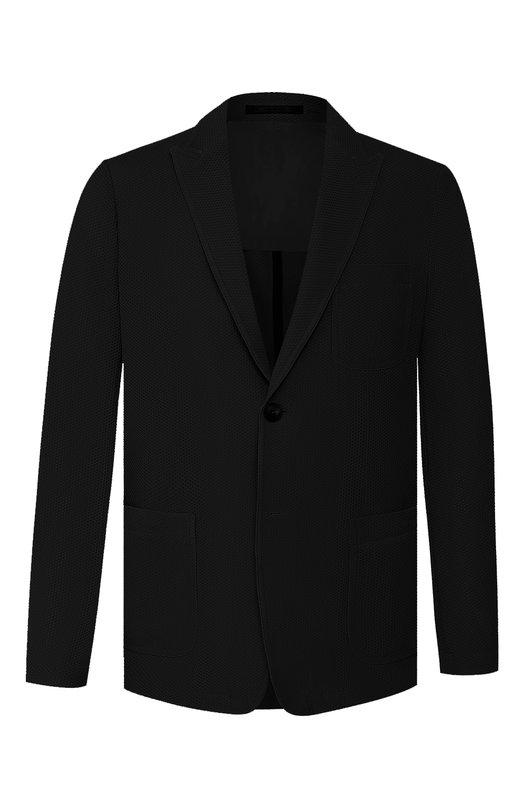 Купить Пиджак Giorgio Armani, 9SGGG076/J0008, Италия, Черный, Полиамид: 80%; Эластан (Полиуретан): 20%;