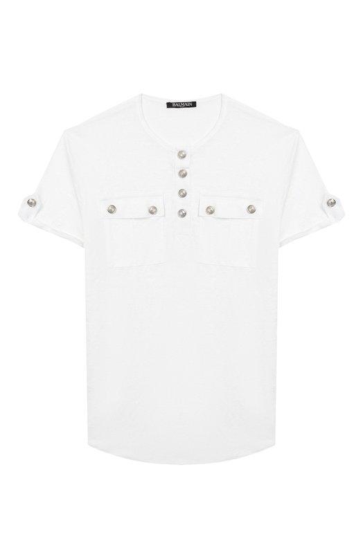 Льняная футболка Balmain