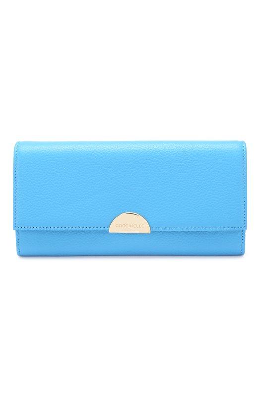 Купить Кожаный кошелек Coccinelle, E2 D35 11 03 01, Китай, Синий, Кожа натуральная: 100%;