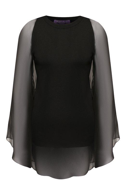 Купить Шелковый пуловер Ralph Lauren, 290749771, Италия, Черный, Шелк: 90%; Полиамид: 7%; Эластан (Полиуретан): 3%;