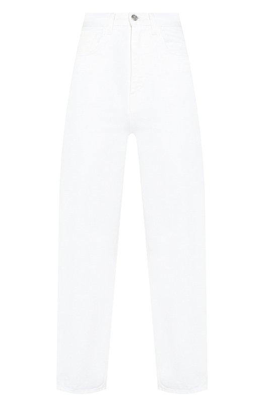 Купить Джинсы с завышенной талией Moncler, E1-093-17405-05-54A77, Италия, Белый, Хлопок: 100%;