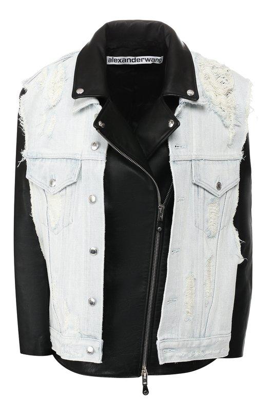 Купить Кожаная куртка Alexander Wang, 1W493048E5, Китай, Черный, Кожа натуральная: 100%;