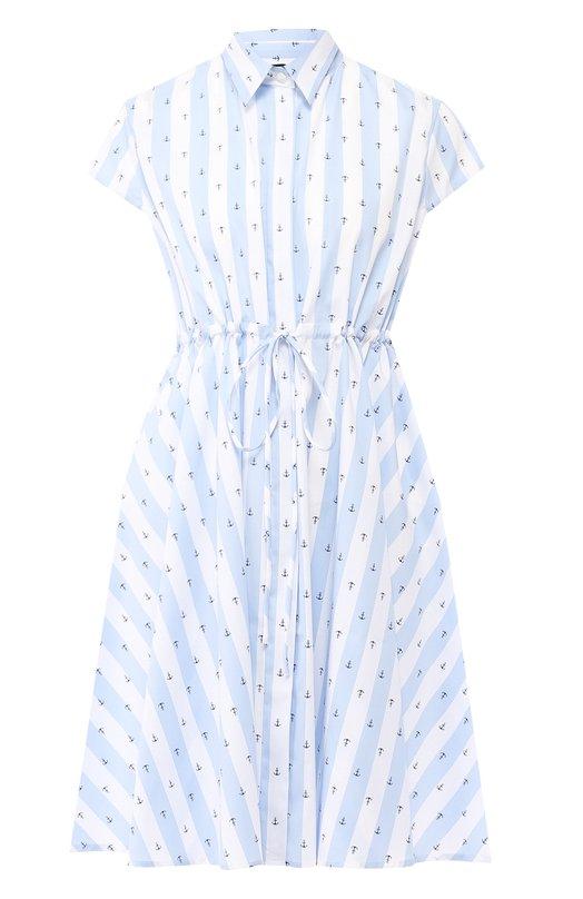 Купить Хлопковое платье Pietro Brunelli, AM0047/C0FAST, Италия, Голубой, Хлопок: 72%; Эластан (Полиуретан): 3%; Полиамид: 25%;