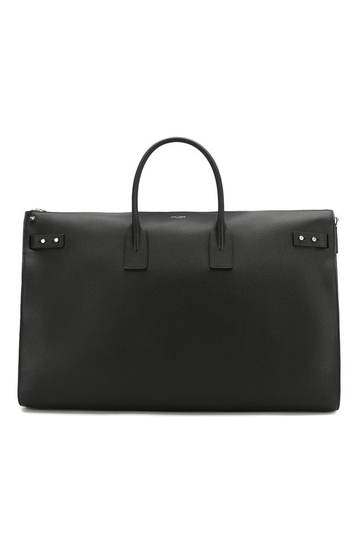 Купить Кожаная дорожная сумка Saint Laurent, 528606/DTI0E, Италия, Черный, Кожа: 100%;