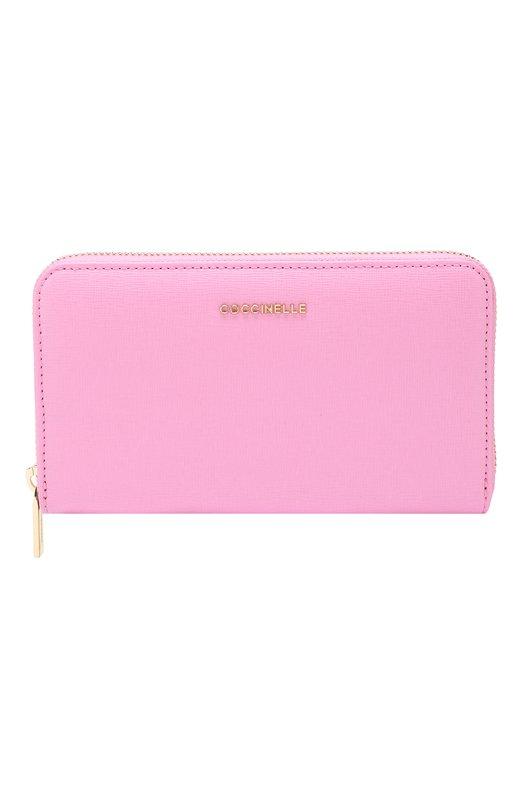 Купить Кожаный кошелек на молнии Coccinelle, E2 DW1 11 32 01, Китай, Розовый, Кожа натуральная: 100%;