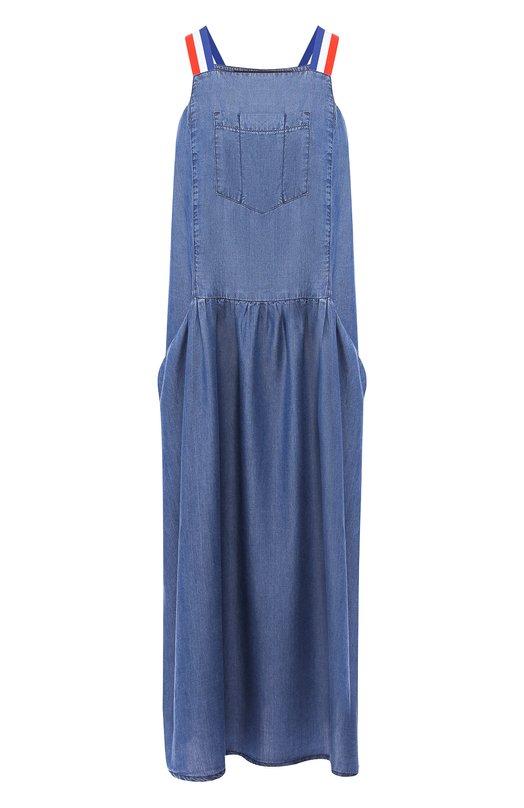 Купить Платье свободного кроя Pietro Brunelli, AGE010/TE0006, Италия, Темно-синий, Лиоцелл: 100%;